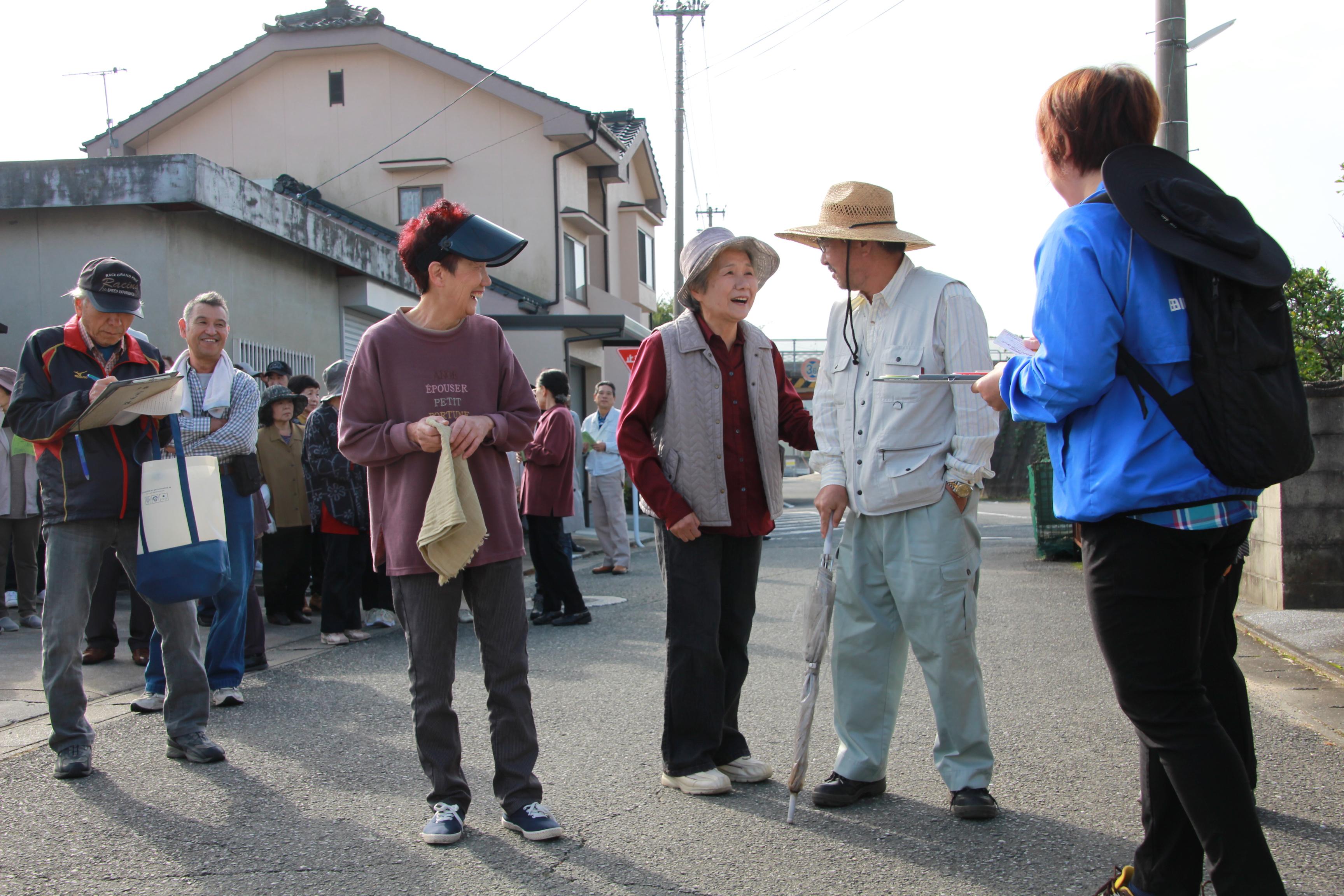 【弓削田校区】高齢者等SOS模擬訓練